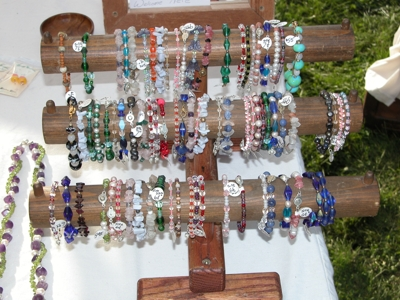 Gemstone and Glass Bracelets