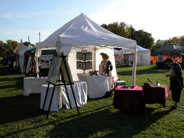 Outdoor Vending setup with EZUp & Show Setup and Displays -- Maggs Creations