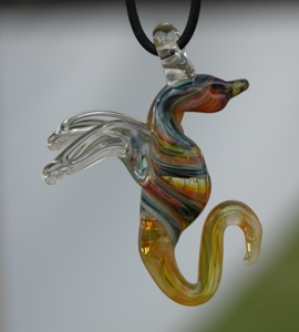 glass dragon pendant